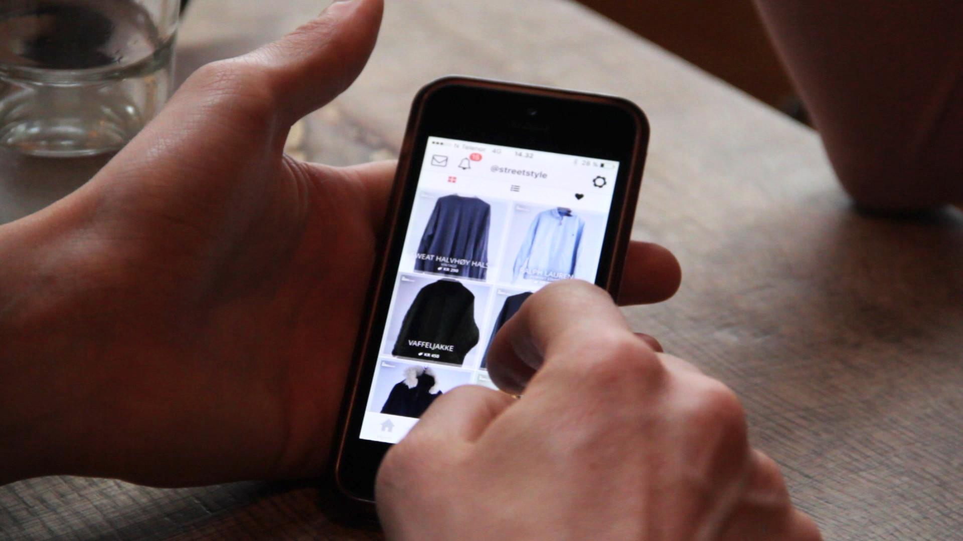 Javasnutt: Med appen Tise kan du kjøpe og selje brukte klede