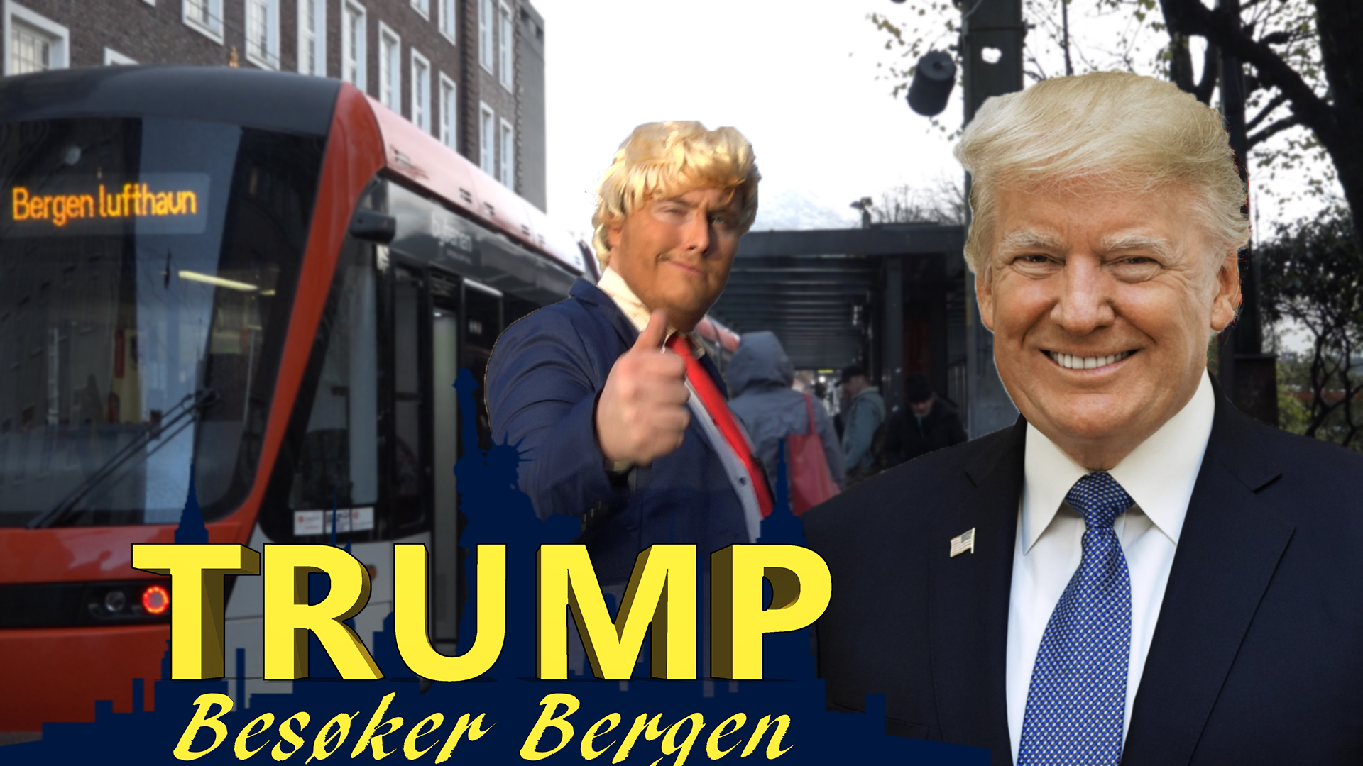 Trump Besøker Bergen: Trump's Train Track Adventures