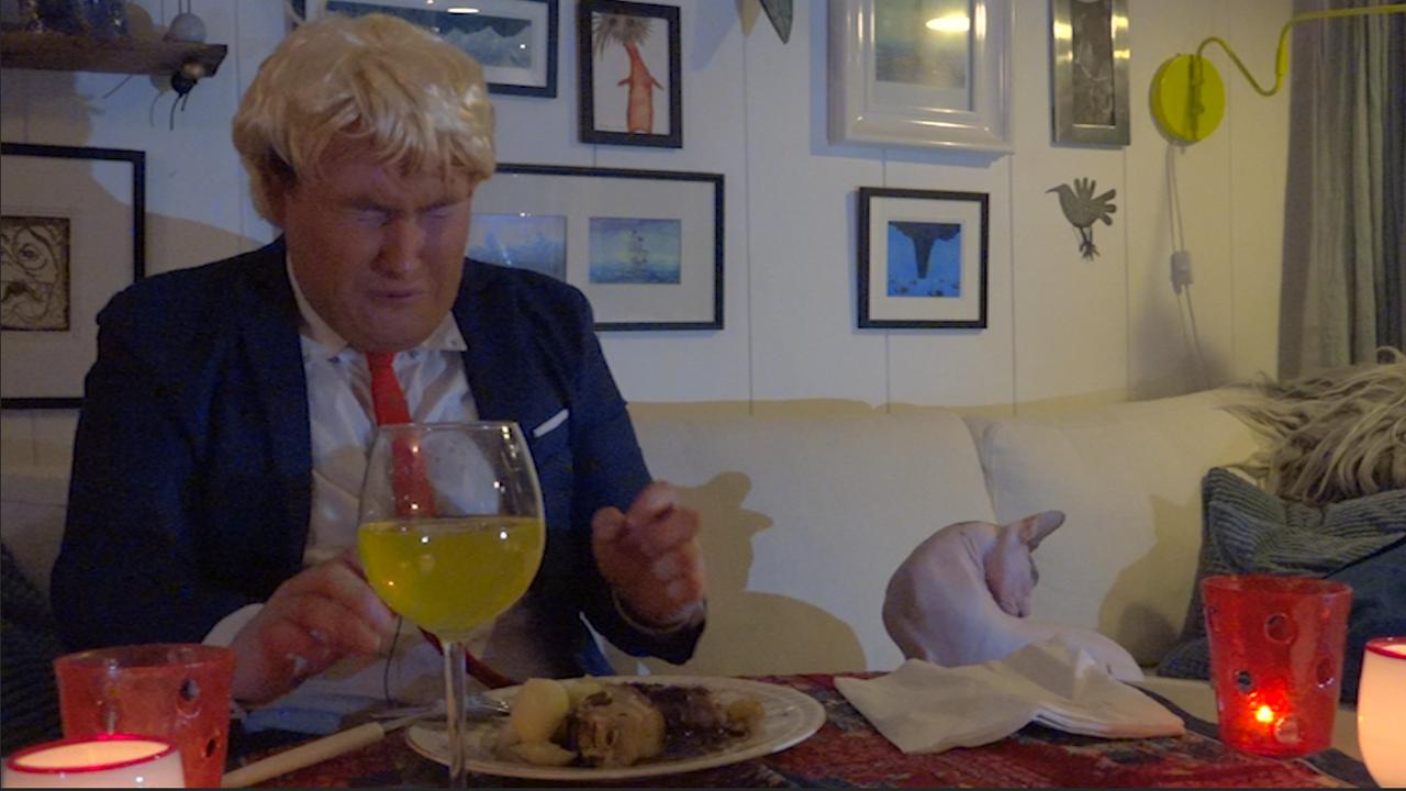 Trump Besøker Bergen: Trump's Christmas Dinner Experience