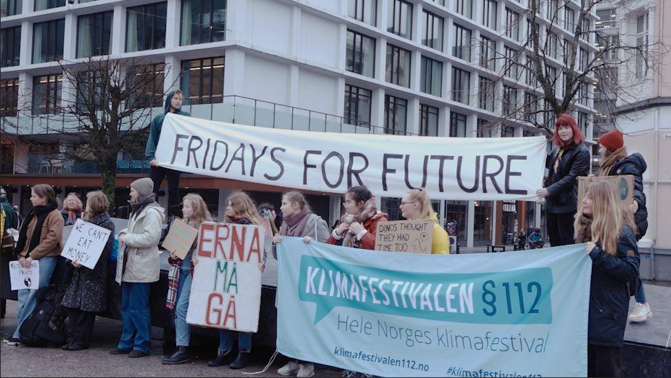 Klimastreikerne viste solidaritet med Australia
