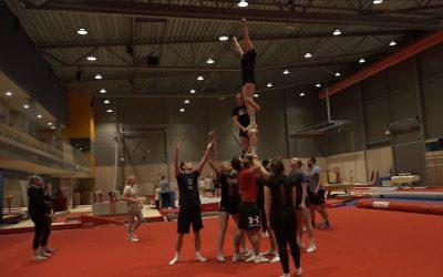 Studenter til NM i cheerleading